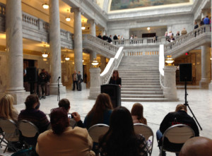 Domestic violence experts spoke Feb. 10th at the Utah State Capitol about the state's growing problem with domestic violence.