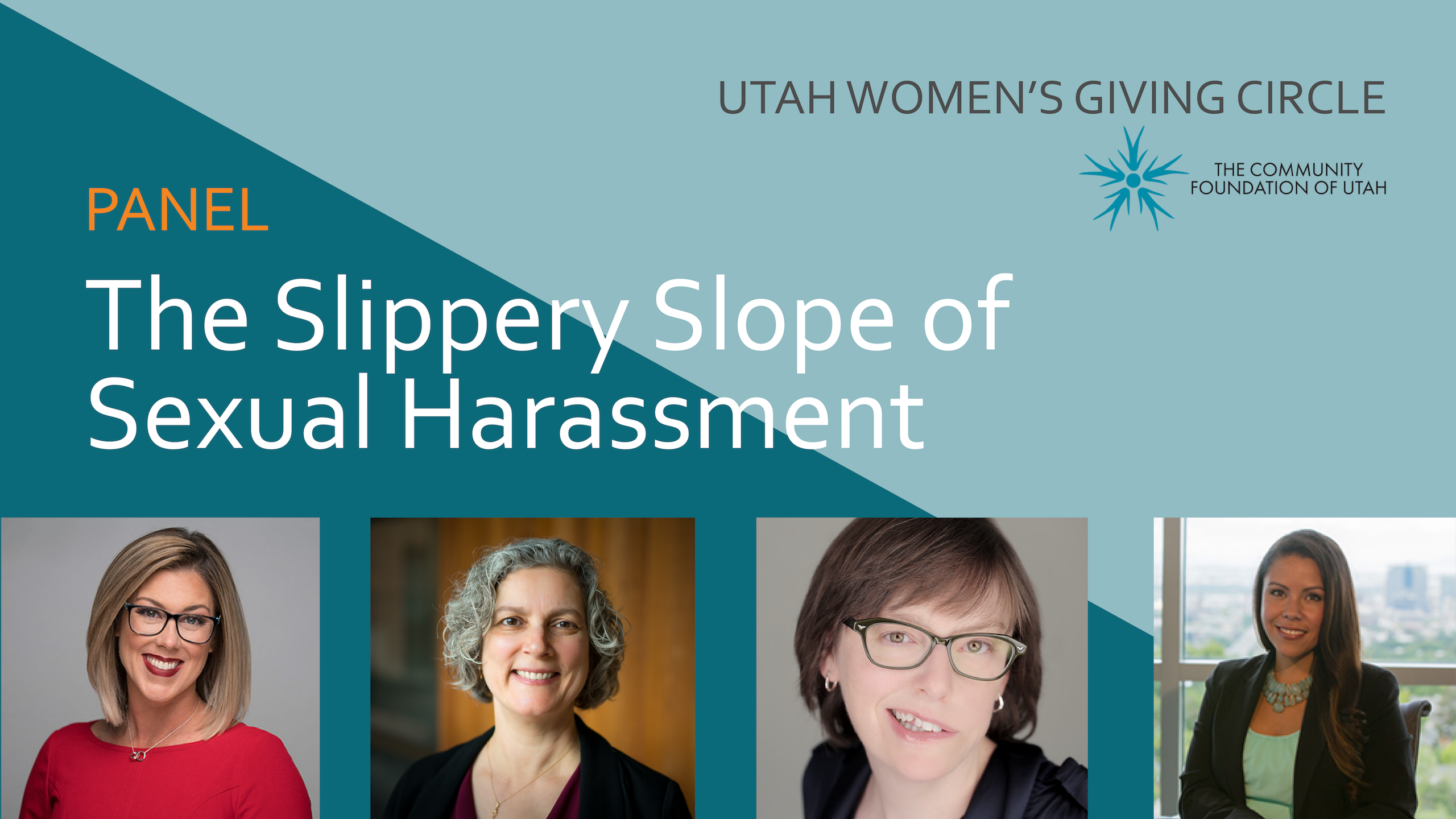 Utah Women's Giving Circle The Slippery Slope of Sexual Harassment Panel