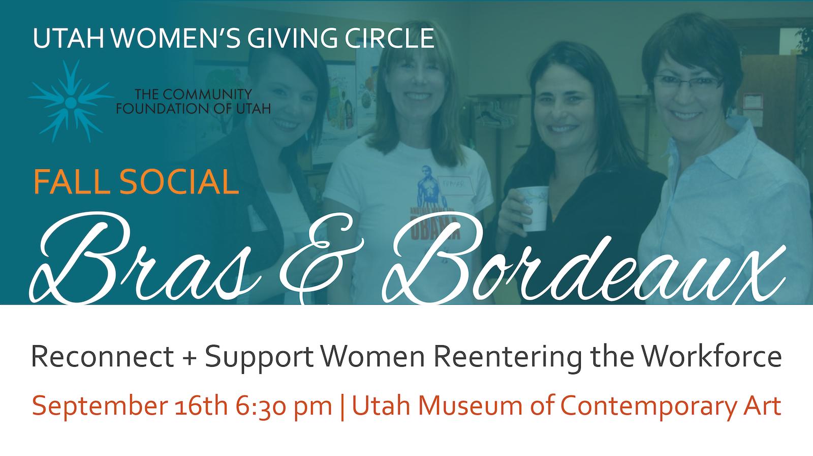 Bras & Bordeaux Connection Event Utah Women's Giving Circle